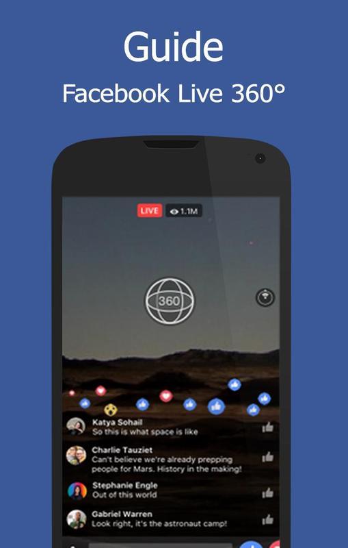 ... Guide for facebook live 360 ảnh màn hình apk ...