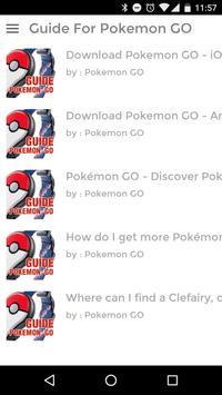 GUIDE FOR POKEMON GO screenshot 2