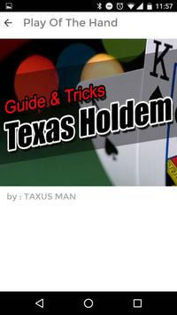 GUIDE FOR TAXUS HOLDEM TRICK apk screenshot