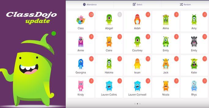 guide for ClassDojo update : teachers App poster