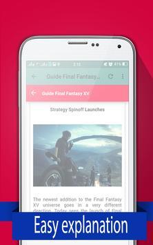 New Guide Final Fantasy XV 2017 apk screenshot