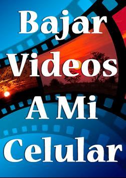 Bajar Videos a mi Celular mp4 Gratis Guide Facil poster