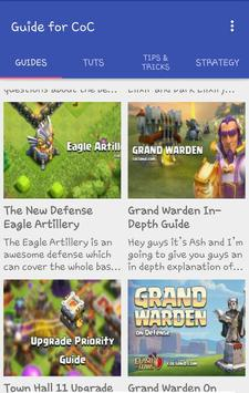 Tips Tricks for Clash of Clans poster