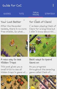 Tips Tricks for Clash of Clans screenshot 1