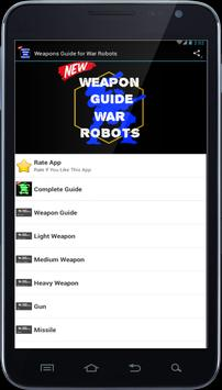 Weapons Guide for War Robots poster