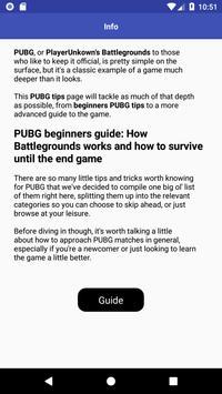 GUIDE FOR PUBG screenshot 2