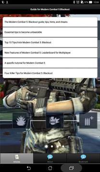 Guide+Modern Combat 5 Blackout poster