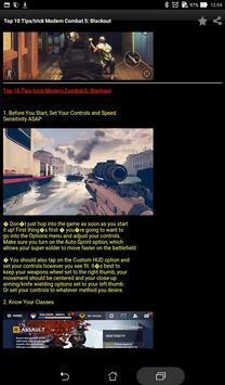 Guide+Modern Combat 5 Blackout apk screenshot