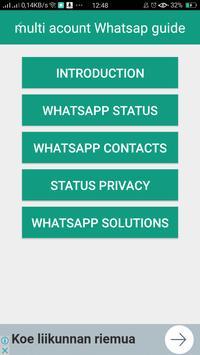 guide for 2 whatsapp accounts apk screenshot