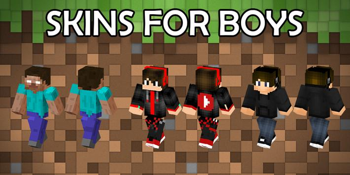 Boys skins for Minecraft PE poster