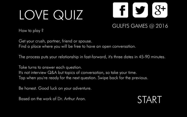 Love quiz questions games