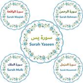 Panj Surah (پنج سورۃ) with Urdu Translation icon