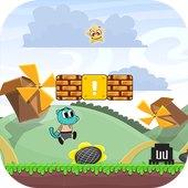 Blue Candy Gumball Adventure icon