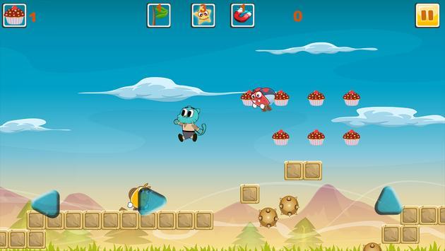 Blue Candy Gumball Adventure screenshot 1