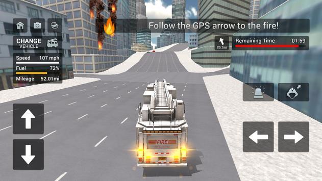 Fire Truck Driving Simulator screenshot 7