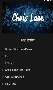 Chris Lane music lyrics poster