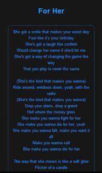 Chris Lane music lyrics screenshot 3