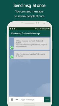 MultiMessage for Whatsapp Affiche