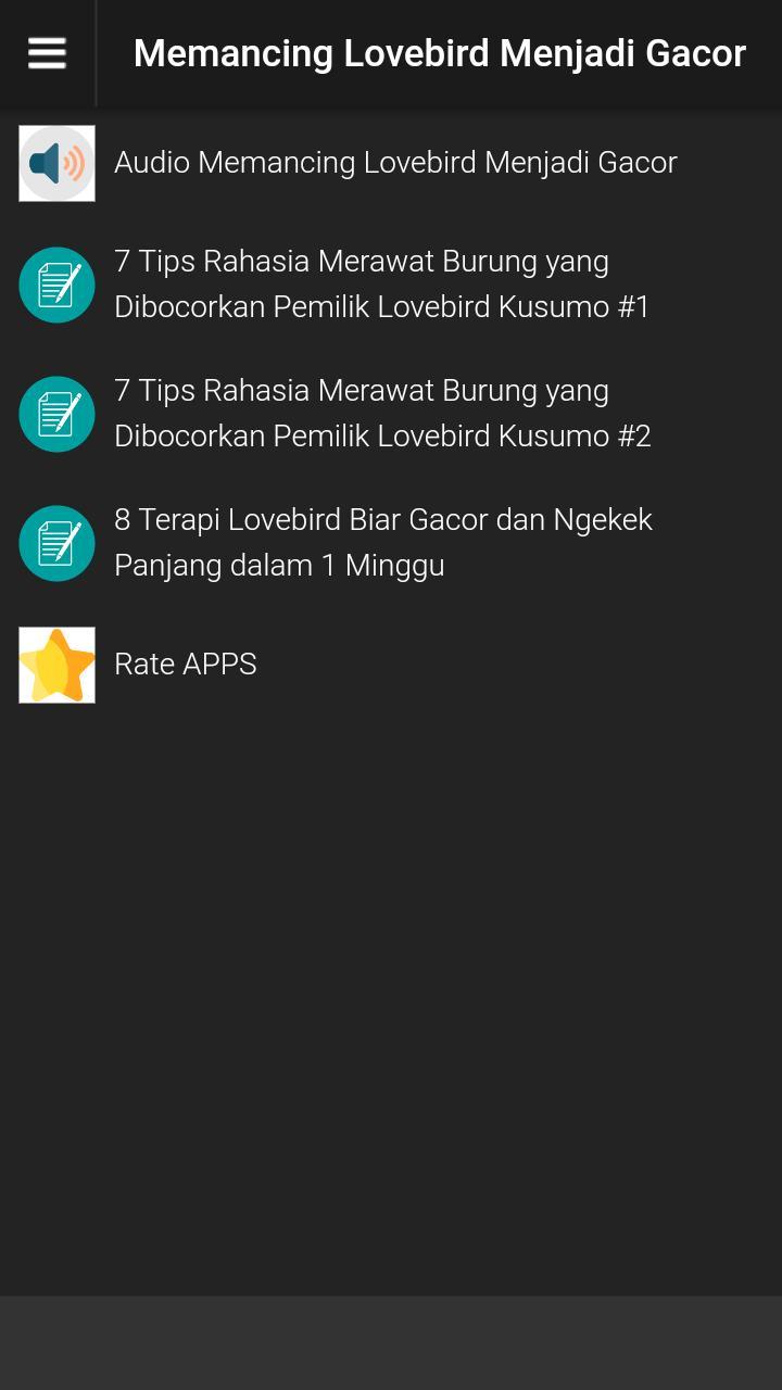 Masteran Lovebird Gacor Atau Ngekek For Android Apk Download