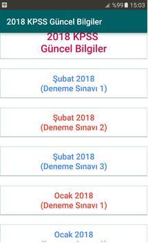 2018 KPSS Güncel Bilgiler poster