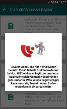 2018 KPSS Güncel Bilgiler apk screenshot