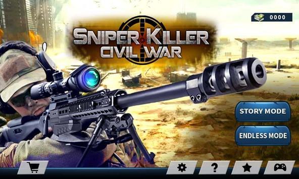 Elite Sniper Combat Killer : Army Civil War poster