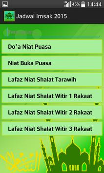 Jadwal Imsak 2015 screenshot 4
