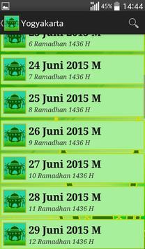 Jadwal Imsak 2015 screenshot 8