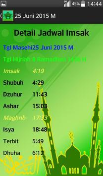 Jadwal Imsak 2015 screenshot 9