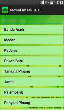 Jadwal Imsak 2015 screenshot 11