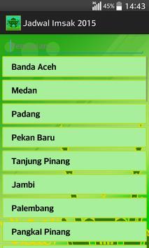 Jadwal Imsak 2015 screenshot 1