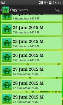 Jadwal Imsak 2015 screenshot 2