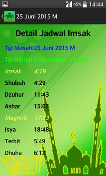 Jadwal Imsak 2015 screenshot 3