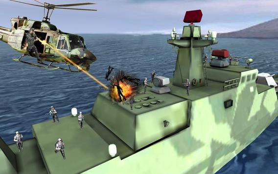 Gunship Deep Sea Shooting Game 2018 poster