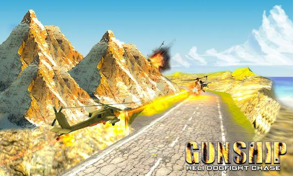 Heli Dog Fight Chase : Gunship poster