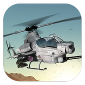 Gunship Helicopter Battle 3D Game icon