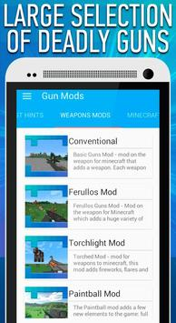 Weapon Mods for Minecraft PE apk screenshot