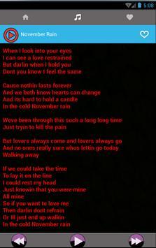 All Guns N Roses Rock Songs and Lyrics poster