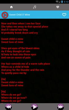 All Guns N Roses Rock Songs and Lyrics apk screenshot