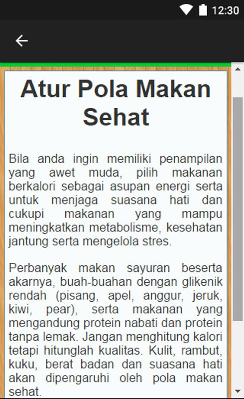 Tips Pola Hidup Sehat For Android Apk Download