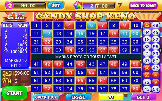 Free Keno Games - Candy Bonus screenshot 6