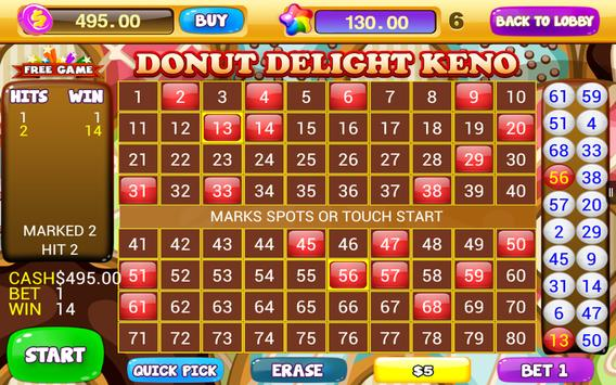 Free Keno Games - Candy Bonus screenshot 9