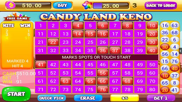 Free Keno Games - Candy Bonus screenshot 2