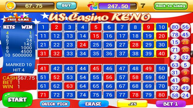 World Casino - Free Keno Games screenshot 12