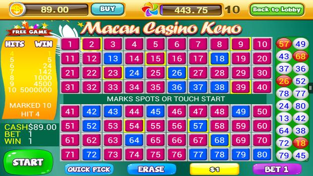 World Casino - Free Keno Games screenshot 17