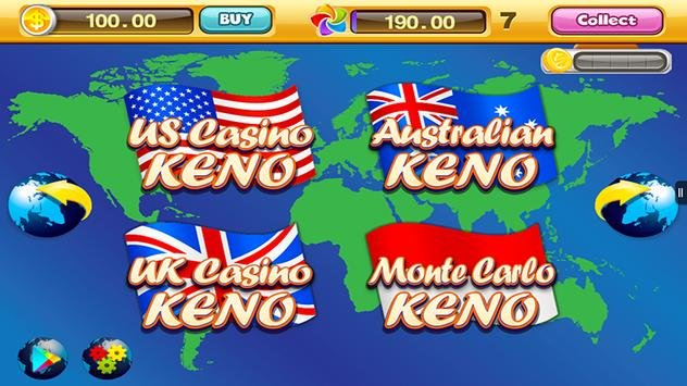 World Casino - Free Keno Games screenshot 1