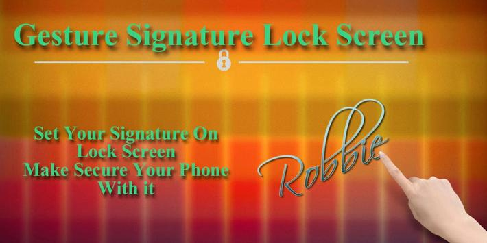 Gesture Signature Lock Screen poster