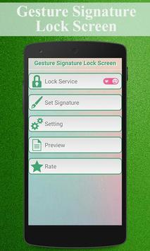 Gesture Signature Lock Screen apk screenshot