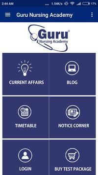 Guru Nursing Academy poster