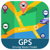 GPS Driving Route Finder - Near By Places on Maps icon